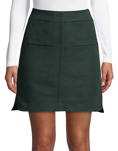Carven Jupe Courte Cotton Mini Skirt-GREEN-34