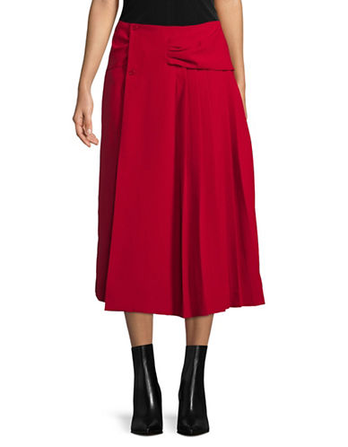 Carven Jupe Longue Skirt-RED-38