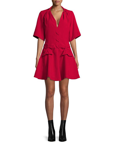 Carven Robe Courte Dress-RED-36