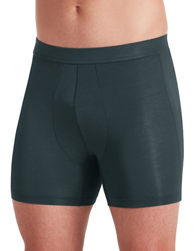 Jockey Supersoft Boxer Briefs-SILVER-Small