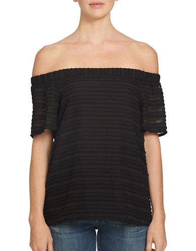 1 State Game On Off-The-Shoulder Blouse-BLACK-X-Small