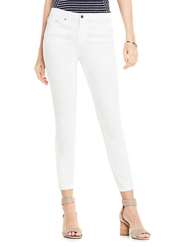 Five Pocket Cotton Ankle Jeans by Vince Camuto