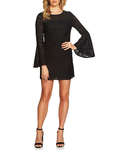 Cynthia Steffe Shannon Bell Sleeve Lace Dress-BLACK-10