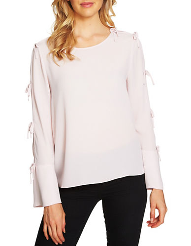 Cece Bell-Sleeve Blouse-NATURAL-Medium