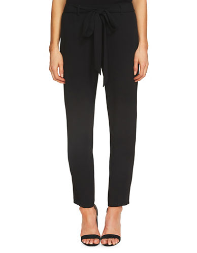 Cece Tie-Front Relaxed Trousers-BLACK-8