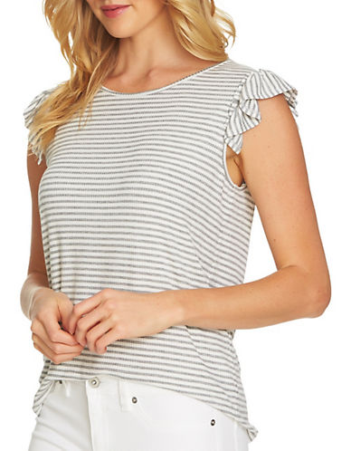Cece Ribbed Striped Top-GREY-Large 90079515_GREY_Large
