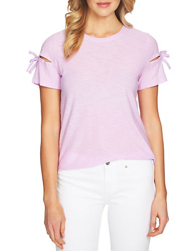 Cece Short-Sleeve Knit Top-PINK-Medium 90079529_PINK_Medium