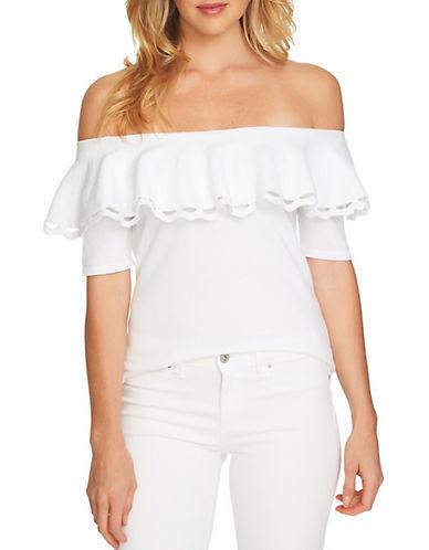 Cece Off-the-Shoulder Cotton Top-WHITE-Small 90079482_WHITE_Small