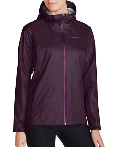 Eddie Bauer Wrinkle-Resistant Cloud Cap Rain Jacket-PURPLE-Medium