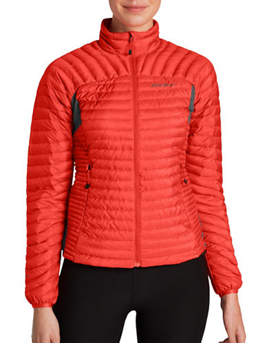 Eddie Bauer MicroTherm StormDown Jacket-ORANGE-Large