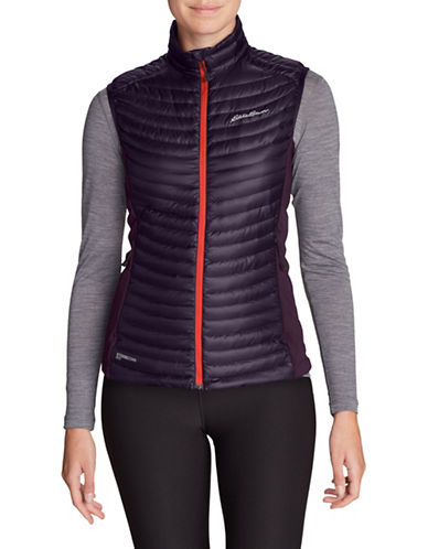 Eddie Bauer Down Puffer Vest-PURPLE-X-Small