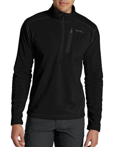 Eddie Bauer Cloud Layer Pro Fleece Pullover-BLACK-Medium