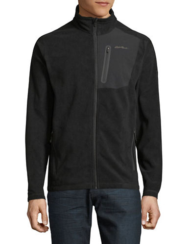 Eddie Bauer Cloud Layer Full Zip Jacket-BLACK-X-Large