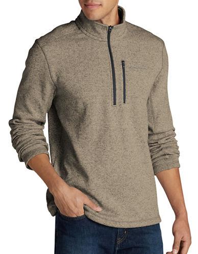Eddie Bauer Radiator Half-Zip Fleece Pullover-BEIGE-Medium
