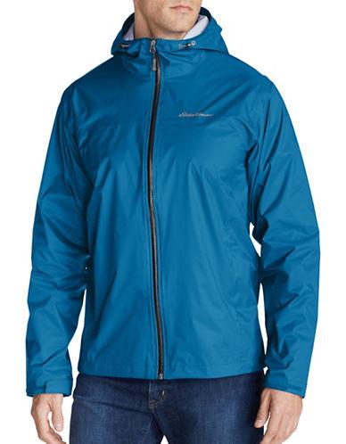 Eddie Bauer Cloud Cap Lightweight Rain Jacket-BLUE-X-Large