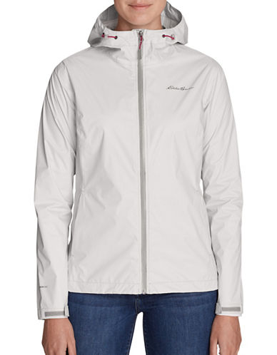 Eddie Bauer Cloud Cap Rain Jacket-SILVER-Large