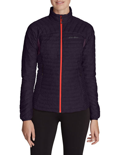 Eddie Bauer Long Sleeve Puffer Jacket-PURPLE-Medium