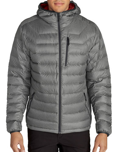 Eddie Bauer Downlight StormDown Hooded Jacket-GREY-X-Large