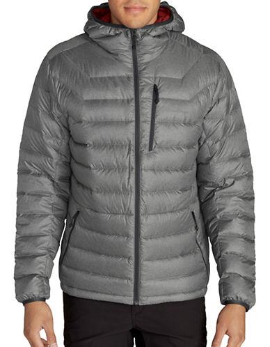 Eddie Bauer Downlight StormDown Hooded Jacket-GREY-Medium