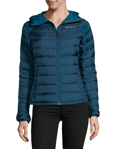 Eddie Bauer Downlight Stormdown Hooded Jacket-GREEN-Small