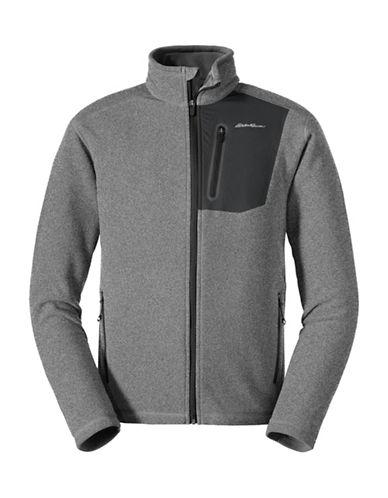 Eddie Bauer Cloud Layer Pro Zip Sweater-GREY-Medium