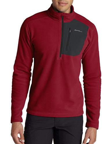 Eddie Bauer Cloud Layer Pro Fleece Pullover-RED-Small