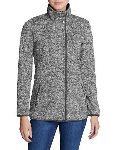 Eddie Bauer Long Sleeve Fleece Field Jacket-GREY-Large