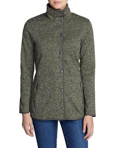 Eddie Bauer Long Sleeve Fleece Field Jacket-GREEN-Medium 89608181_GREEN_Medium