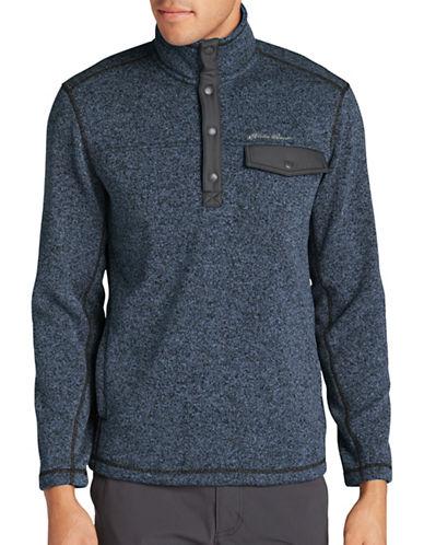 Eddie Bauer Radiator Mock Neck Fleece Sweater-BLUE-Large