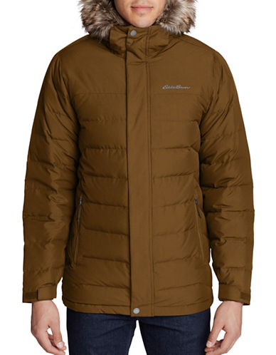 Eddie Bauer Boundary Pass Down Parka-BROWN-Medium
