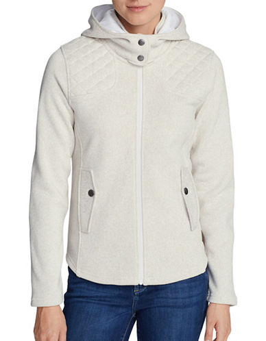Eddie Bauer Radiator Fleece Hooded Jacket-IVORY-Small