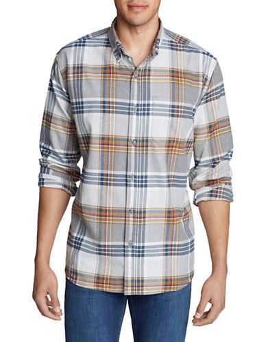 Eddie Bauer Plaid Cotton Flannel Sportshirt-PINK-Small