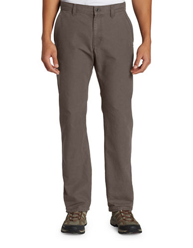 Eddie Bauer Cotton Mountain Pants-GREY-35X34