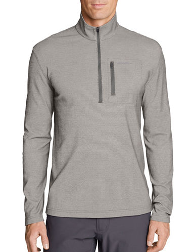Eddie Bauer Voyager Half-Zip Sweater-GREY-Medium