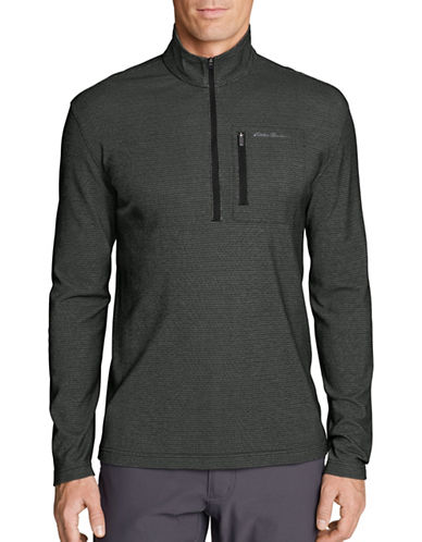 Eddie Bauer Voyager Half-Zip Sweater-BLACK-Small