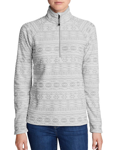 Eddie Bauer Quest Textured Sweater-GREY-Medium