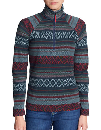 Eddie Bauer Quest Zip Sweater-BLUE-Medium