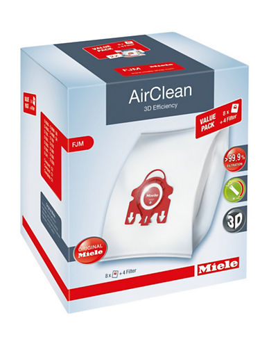 Miele AirClean Eight-Pack Compact Dustbags-RED-One Size