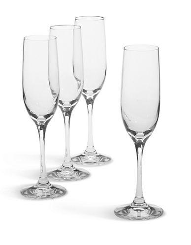 Spiegelau Set of 4 Sparkling Wine Flutes-CLEAR-One Size