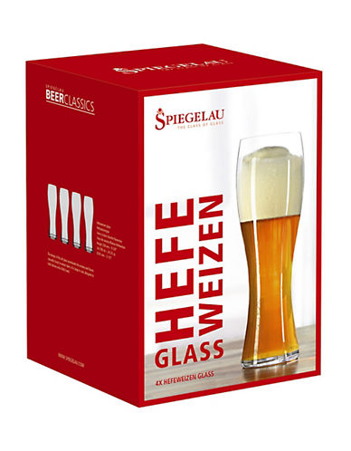 Spiegelau Beer Classics Wheat Glasses Set of Four-CLEAR-One Size