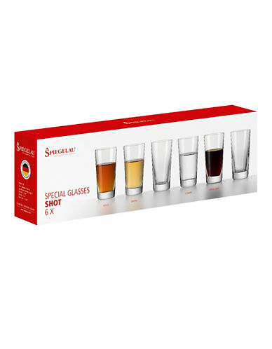 Spiegelau Set of Six Shooter Glasses-CLEAR-One Size