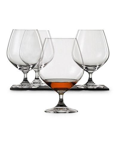 Spiegelau Set of Four Brandy Glasses-CLEAR-One Size