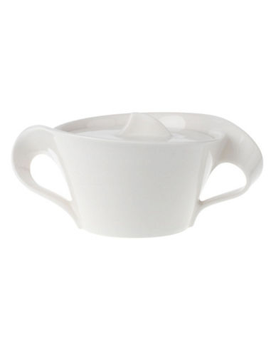 Villeroy & Boch New Wave 8 3 4Oz Covered Sugar-WHITE-One Size