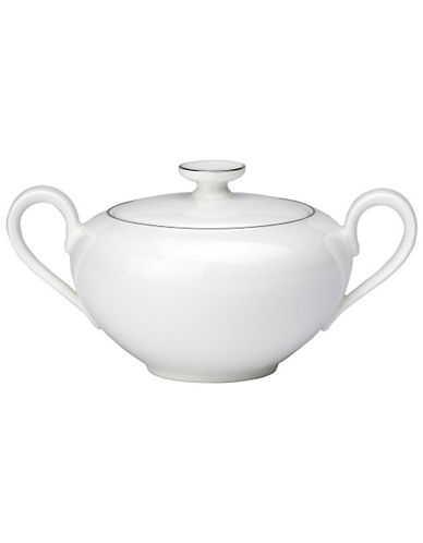 Villeroy & Boch Anmut Platinum Covered Sugar-WHITE-One Size