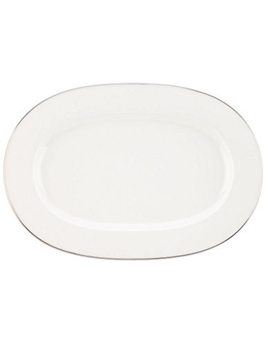 Villeroy & Boch Anmut Platinum Oval Platter-WHITE-One Size