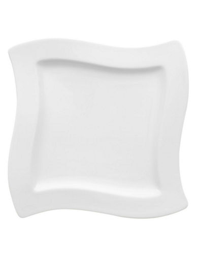 Villeroy & Boch New Wave Square Salad Plate-WHITE-One Size