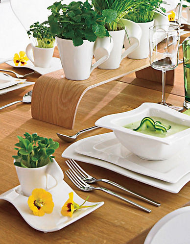 Villeroy & Boch New Wave 4 Piece Place Setting-WHITE-One Size