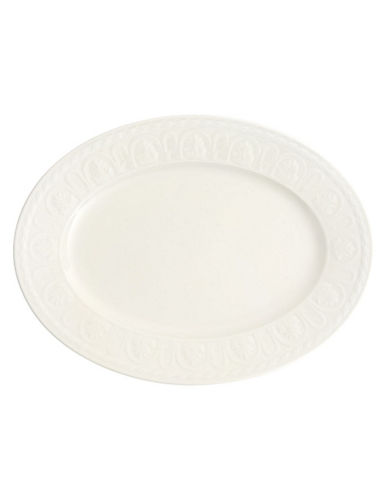 Villeroy & Boch Cellini Oval Platter-WHITE-One Size