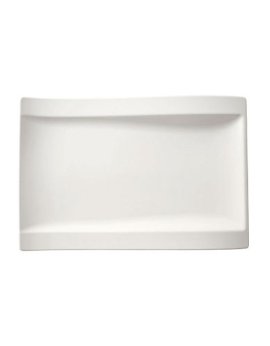 Villeroy & Boch Newwave Large Rectangle Dinner Plate-WHITE-One Size