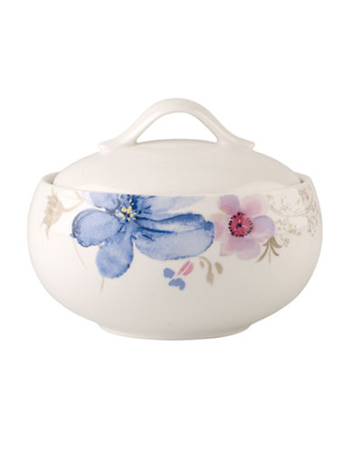 Villeroy & Boch Mariefleur Grey Covered Sugar-MULTI COLOURED-One Size